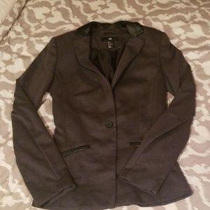 Charcoal Blazer - Slim Fit